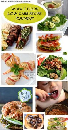 whole food low-carb roundup