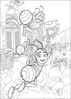 Bee Movie Coloring Page 34
