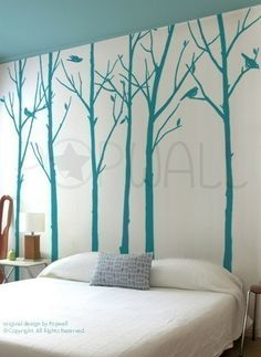 Tree Decal would make an impressive guest room.