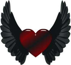 Hearts wings and angels Heart Pictures, Heart Images, Heart Wallpaper, Love Wallpaper, Pattern Wallpaper, Heart With Wings Tattoo, Dark Wings, Hearts And Roses, Heart Tattoo Designs