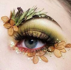 Make up inspiration Eye Makeup Art, Eye Art, Makeup Inspo, Eyeshadow Makeup, Makeup Inspiration, Beauty Makeup, Exotic Makeup, Makeup Wings, Flower Makeup