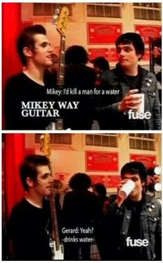 Wait.... Mikey plays the bass not the guitar... WRONG. Funny doe. Brotherly love
