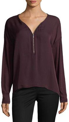 The Kooples Women's Mix Silk Jersey T-Shirt