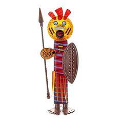 Massai: 24-99-45 in Red, Hand-Blown Art Glass by Borowski Glass Studio