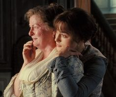 """Pride and Prejudice 2005  The loss of her daughter made Mrs. Bennet very dull for several days.  """"I often think,'' said she, """"that there is nothing so bad as parting with one's friends. One seems so forlorn without them.''"""