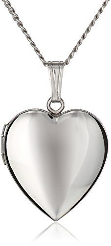 """Sterling Silver Polished Heart Locket Necklace, 16"""" Amazon Curated Collection http://www.amazon.com/dp/B008NBFQSE/ref=cm_sw_r_pi_dp_JGEoub09X3A6B"""