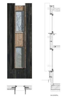 presentation of detail Window detail - Open Air Theatre - image: Haworth Tompkins - Architizer Coupes Architecture, Detail Architecture, Architecture Graphics, Architecture Student, Architecture Drawings, Architecture Portfolio, Interior Architecture, Sections Architecture, Classical Architecture