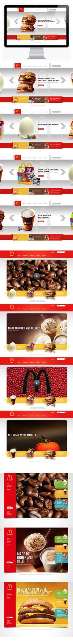 #McDonalds by Moosesyrup, via #Behance #Webdesign