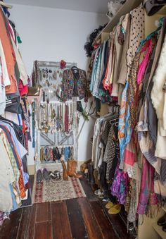 Shena and George's Formerly Blighted, Beautifully Salvaged New Orleans Home Dressing Room Closet, Closet Bedroom, Closet Space, Dressing Rooms, Glam Closet, Small Apartment Organization, Closet Organization, Organizing, New Orleans Homes