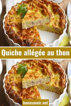 Light tuna quiche - Let's Cake Vegan Blueberry, Blueberry Scones, Sponge Cake Recipes, Pound Cake Recipes, Quiche Recipes, Healthy Eating Tips, Clean Eating Snacks, Tuna Quiche, Quiches