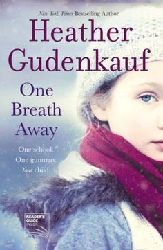 "One Breath Away by Heather Gudenkauf.  In a small town school in Iowa, a gunman is threatening a classroom the day before spring break. A late season blizzard is raging, cutting off help and making matters worse.  The new female police officer has to work her way around male ""I'm the man"" attitudes. The teacher is doing her best of avoid a killing.  A family of three generations is re-examining their issues.  An 8 out of 10. Worth it.  Recommended. See more: http://queenbeewritings.blogspot.com/"