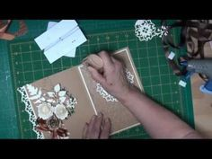 cardmaking YouTube video tutorial: Flip Card With Spellbinders from card-making-magic.com ...gorgeous Z-fold card ... shows how to emboss and cut  lacy shapes ...