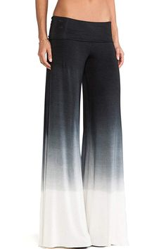 7cc0492047b72 Women's Elegant Colorblock Wide Leg High Fold Over Waist Palazzo Pants --  More info could