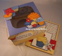 Confessions of a Ribbon Addict: Single Cupcake Box Instructions