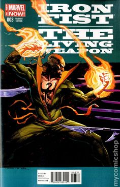 Iron Fist The Living Weapon (2014) 3B  Marvel Comics Modern Age Comic book covers Super Heroes  Villians  3