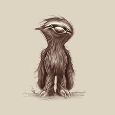 Sloth tattoo design