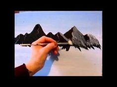 3 Easy steps and techniques to paintng a mountain, learning how to paint landscapes, seascapes, if you want to see more of Allison Prior's free Painting and Drawing Lesson go to… Acrylic Painting Techniques, Painting Videos, Easy Paintings, Painting & Drawing, Landscape Paintings, Painting Steps, Indian Paintings, Abstract Paintings, Oil Paintings