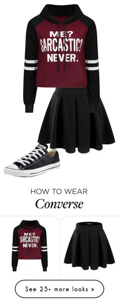 """Inspired by @kit-kat09"" by pancake-queen222 on Polyvore featuring Converse and Doublju"