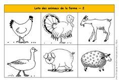 Loto des animaux de la ferme maternelle PS MS