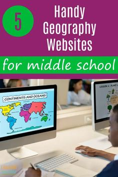 A great way to make your geography lessons fun and engaging for your middle schooler, is to go online and add one of these geography websites into your homeschooling day. By studying geography, children get to know the countries and cultures of the world. Geography Lesson Plans, Geography Activities, Geography For Kids, Teaching Geography, Geography Revision, Geography Worksheets, Gcse Geography, Geography Quiz, Map Worksheets