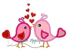 Love Birds Applique - 3 Sizes! | What's New | Machine Embroidery Designs | SWAKembroidery.com Dollar Applique