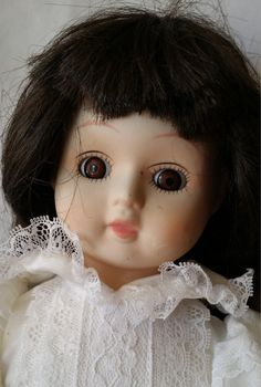 """Strange Energy Haunted 22"""" Porcelain Doll - Mischievous Glass Eyes - Active Psychic Energy - Paranormal Ghost Doll by FugitiveKatCreations on Etsy"""