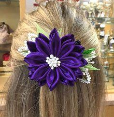 Kanzashi Flower Royal Purple