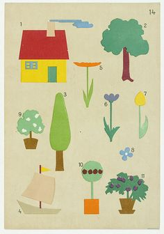 Hans Kappler | découpages enfants, 1920 // vintage kindergarten paper cuts #graphic #kids #MoMA