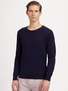 "Gant Rugger ""The Crue"" Men's New Crew Neck Sweater Large Blue NWT $145…"