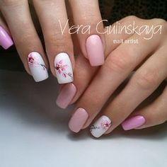 The Pink Bride Nails Can Enhance Love And Luck – Page 17 – Dazhimen Nail Art Designs, Acrylic Nail Designs, Spring Nail Art, Spring Nails, Trendy Nails, Cute Nails, Manicure, Magic Nails, Floral Nail Art
