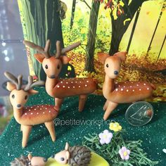 This is a close up on the deer in the Forest project!