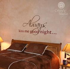 Always kiss me good night decal   Kiss me by CristysStudio on Etsy, $19.99