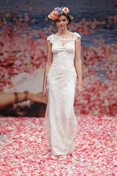 Claire Pettibone Fall 2013 - love the Alphonse Mucha / Osma head pieces ugh