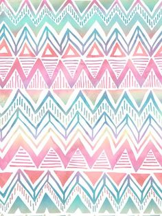 Lido Chevron Art Print by SchatziBrown #pastel #chevron