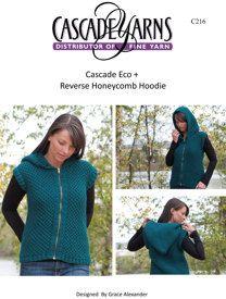 Reversible Honeycomb Hoodie in Cascade Eco+ - C216