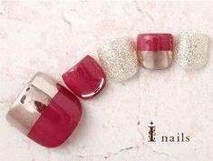 Feet Nails, My Nails, Mani Pedi, Pedicure, Hair Jazz, Nail Charms, Mirror Stickers, Acrylic Mirror, Toe Nail Art
