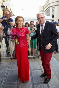 """MYROYALSHOLLYWOOD FASHİON:  Princess Claire and Prince Laurent attended the """"Bal National"""", July 20, 2014, which proceeds the Belgian National Day"""