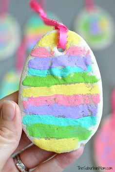 Easy Scented Salt Dough Easter Egg Ornaments for kids! Such a fun craft for kids!