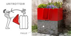 Nantes : un urinoir de rue écologique qui fait pousser des fleurs - L'Uritrottoir, un urinoir écolo pour des rues propres et fleuries ! Uritrottoir - Street Urinal - Vespasienne écologique - design by Faltazi - lesekovores.com - Nantes - contact@faltazi.com - www.uritrottoir.com