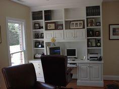 built in computer desk ideas | Built-in Desks > Private Home Built-in Desk