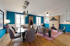 Dariel Studio a choisi Paris, ville d'art et de culture pour réaliser son premier projet résidentiel français. L'appartement est situé au coeur de la capitale dans le 4ème arrondissement, Boulevard Morland.  Thomas Dariel, fondateur du studio, a créé un univers autour de l'élégance, de la grâce parisienne, tout en ajoutant une touche de surréalisme, d'espièglerie et de joie. Cet appartement de 140 m2 était initialement vide et blanc, ce qui a permis de donner libre cours à son imagination…