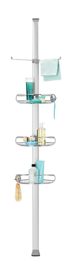 A shower caddy is all we need to keep all those bathroom essentials in order and the Simple Human Adjustable Tension Shower Caddy will definitely do the job.