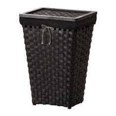 KNARRA Laundry basket with lining, black, brown $29.99 Article Number : 502.428.41 You can easily remove the lining if you want to wash it, or use it to carry your laundry to the washing machine