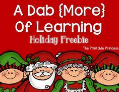 A fun way to teach short vowel words using bingo dabbers. Great for fine motor skills too! Christmas Activities, Christmas Themes, Winter Activities, Bingo Dabber, First Grade Freebies, Preschool Christmas, Cvc Words, Kindergarten Literacy, Teaching Ideas