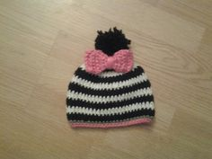 Child crocheted striped hat