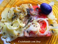 Cozinhando com Josy: Batatas com Sardinha ao Forno