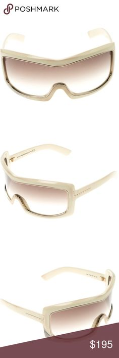 a2d7da33db2f6 Authentic Tom Ford T305 Sunglasses Tom Ford T305 Oversized Shield Olga  Sunglasses with Ivory Shield frame and Gold Rims In excellent condition