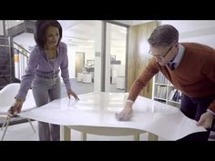 Learn how to resurface a tabletop with the new Post-it® Dry Erase Surface. Just unroll, peel and stick!