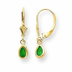 14k Yellow Gold Emerald Earrings - May. Jewelry Pot. $105.99. 100% Satisfaction Guarantee. Questions? Call 866-923-4446. All Genuine Diamonds, Gemstones, Materials, and Precious Metals. Your item will be shipped the same or next weekday!. Fabulous Promotions and Discounts!. 30 Day Money Back Guarantee. Save 61%!