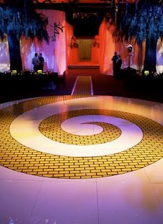 Wow!  This is an incredible floor for a Wizard of Oz themed wedding or party.